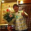 送別会で素敵な花束をいただきました